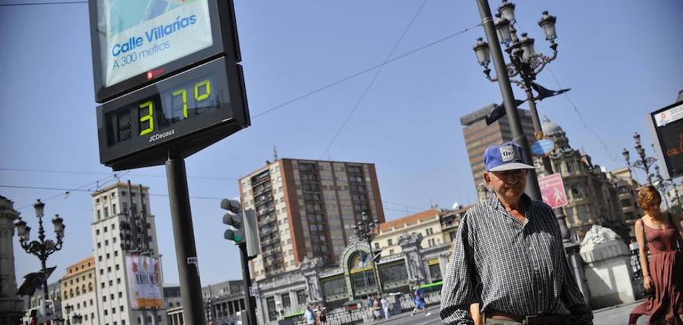 Bizkaia soporta otra jornada de sofoco por encima de los 37 grados