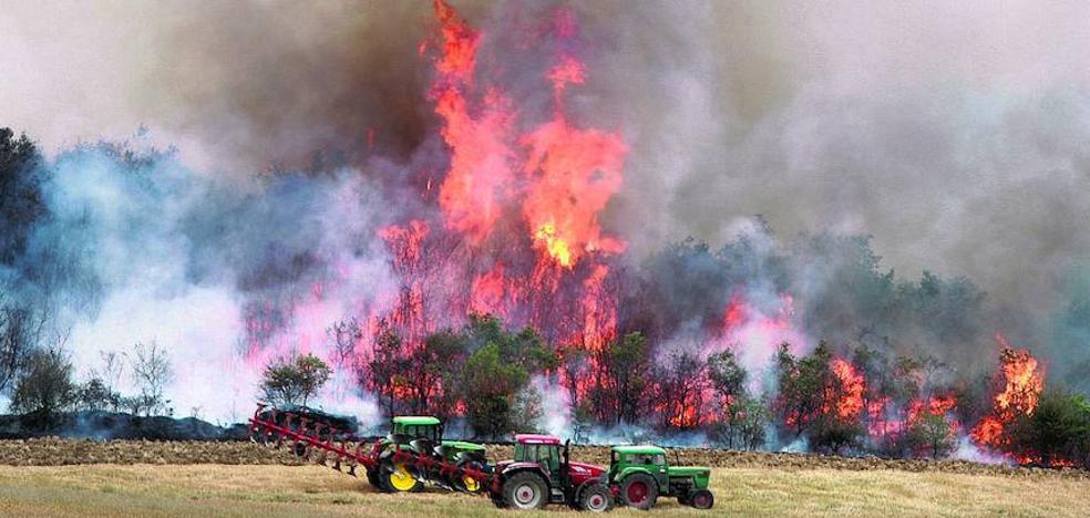 El fuego da una tregua a Álava con cuarenta hectáreas quemadas menos que en 2016