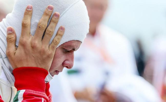 El emotivo homenaje del hijo de Schumacher en el circuito de Spa