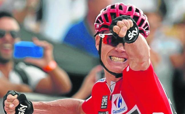 Froome desenfunda la trituradora en la Vuelta España