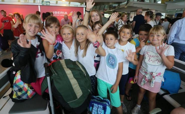 Los niños de Chernóbil dicen 'agur' a Bilbao