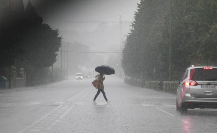 Llueve con fuerza en Euskadi