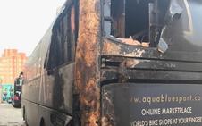 El pirómano que ha quemado el autobús de un equipo de la Vuelta tiene 62 detenciones anteriores