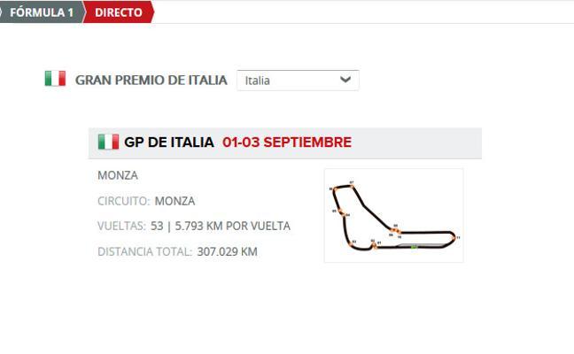 GP F1 Italia 2017 directo: horarios y clasificaciones de entrenamientos en Monza, online