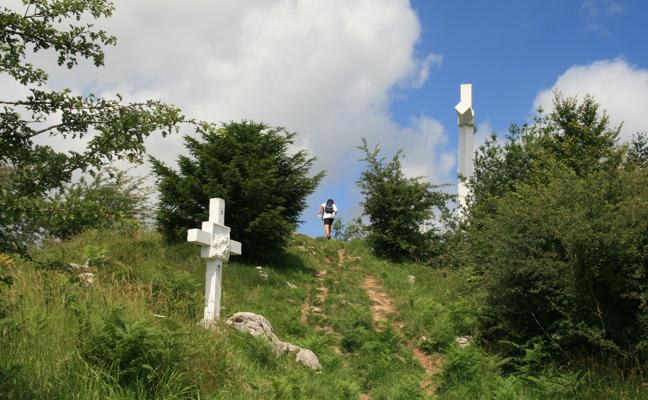 Rutas de montaña: Pagoetako Kurutzea (676 m.)