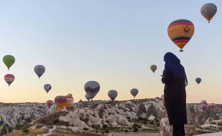 La Cappadocia vista desde el cielo