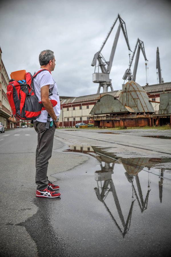 Encierro del comite de La Naval en el astillero de Sestao
