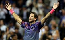 Del Potro aparta a Federer y se cita con Nadal