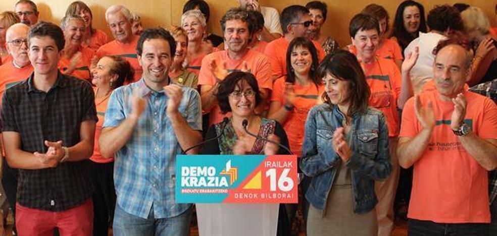 El PNV envía una delegación oficial a la manifestación de Bilbao en favor del 1-O
