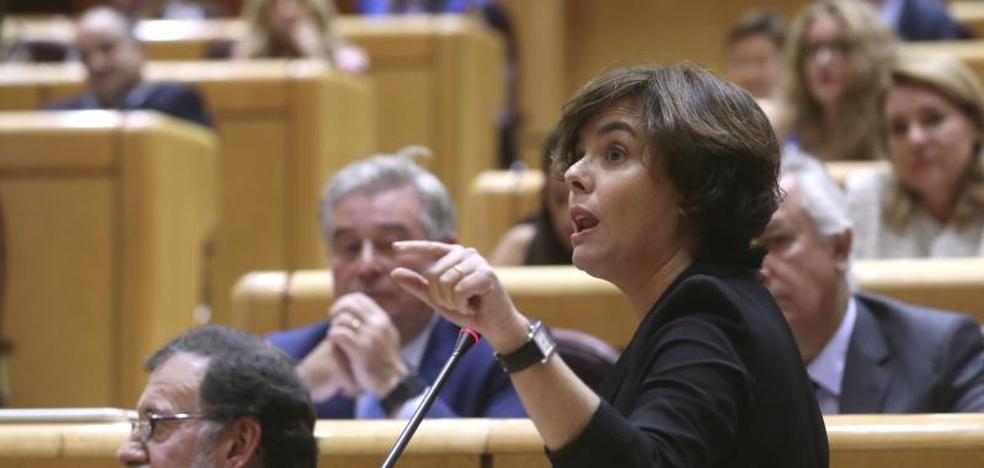 Santamaría avisa a Puigdemont que no les «temblará el pulso»