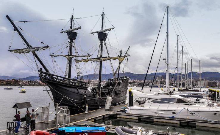 La réplica del barco que dio la primera vuelta al mundo llega a Getxo
