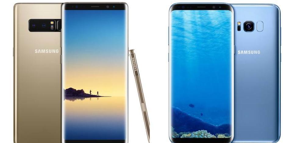S8 vs Note 8: ¿Cómo son los gama alta de Samsung?