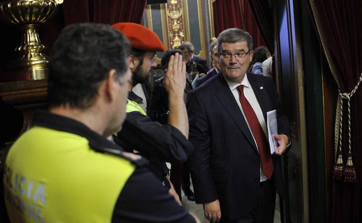 Las imágenes del pleno del Ayuntamiento de Bilbao sobre el Estado de la Villa