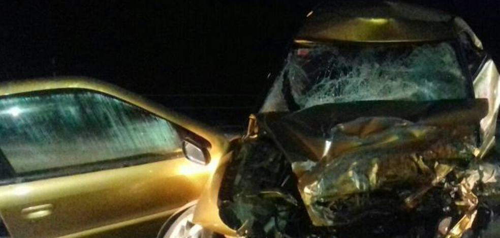 Mueren dos conductores en Agurain, uno de los cuales iba en sentido contrario y a gran velocidad