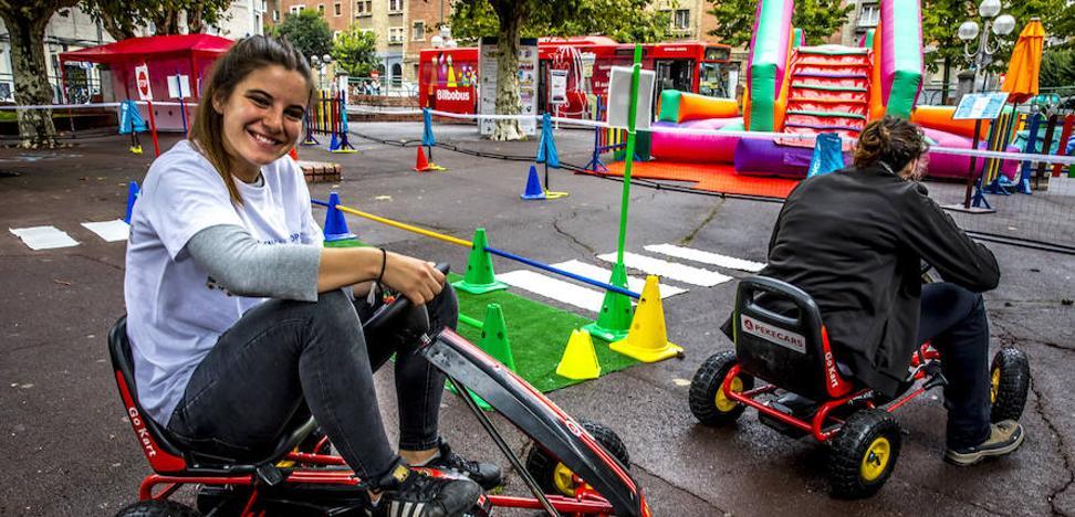 La campa de Basarrate, cuatro días de juegos y exposiciones por la Semana de la Movilidad