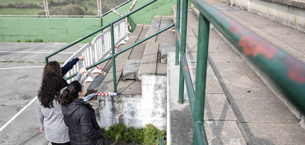 Reforman la grada hundida del colegio santurtziarra Emilia Zuza