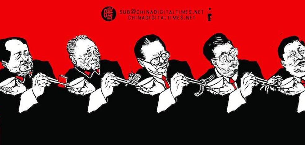 Protesta en tinta china