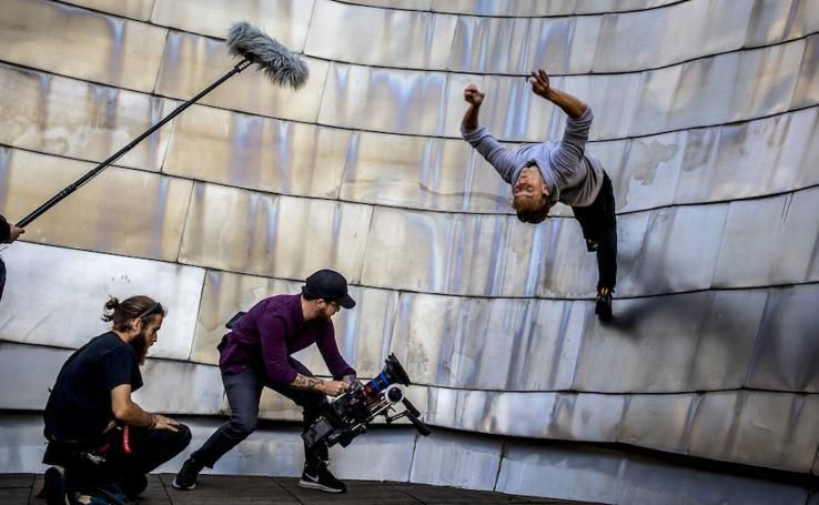 Así se rodó el corto en el Museo Guggenheim de Bilbao