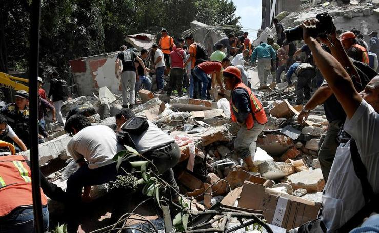 El terremoto que ha sacudido México, en imágenes