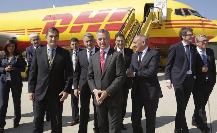 Inauguración de las ampliadas instalaciones de DHL en Foronda