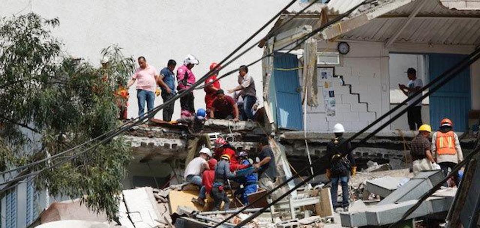 Destrucción y caos en México tras el terremoto
