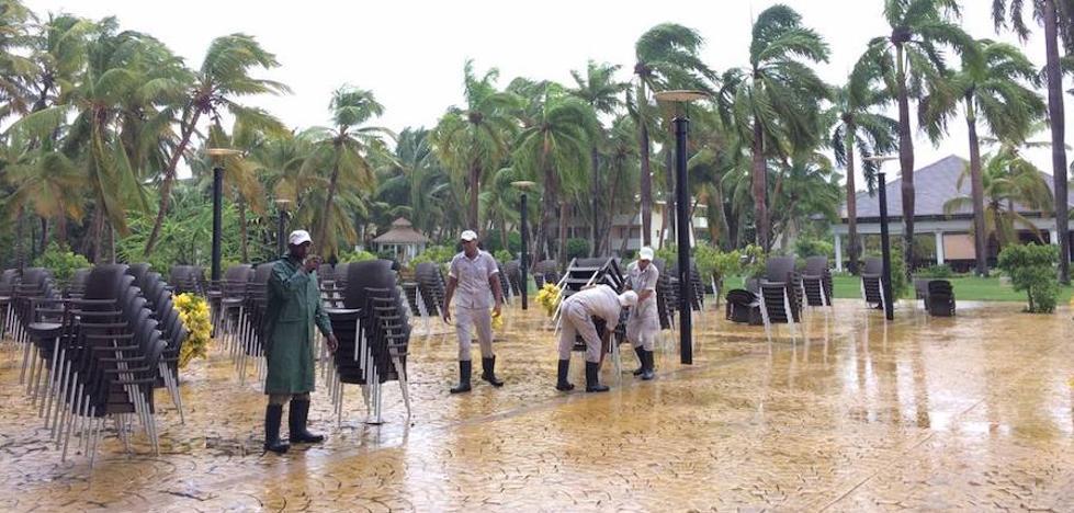 Una turista bilbaína atrapada por el huracán 'María' en Punta Cana: «No podemos ni salir del hotel»