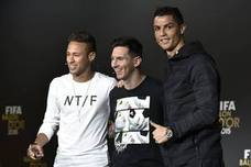 Cristiano, Messi y Neymar, finalistas al Premio The Best