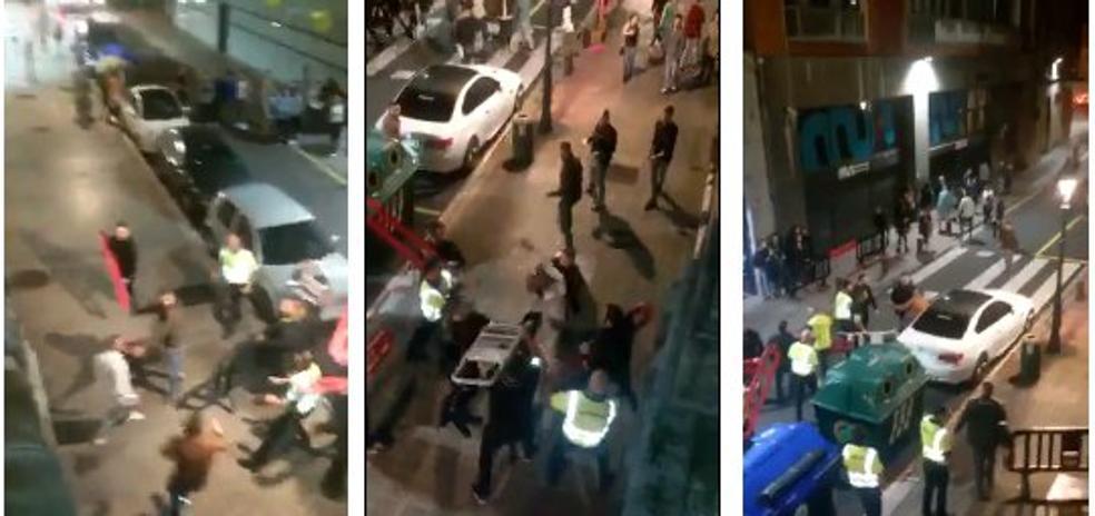 Brutal batalla campal en las puertas de una discoteca de Uribitarte