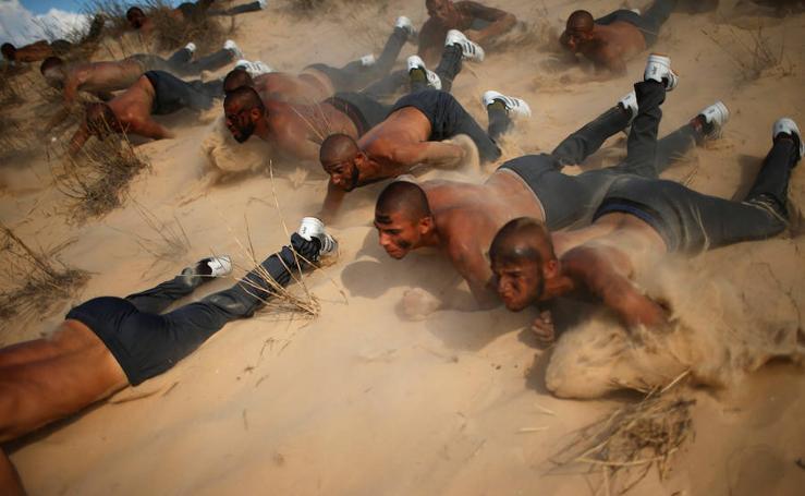 Los duros entrenamientos de la Policía de Hamás