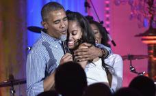 Las lágrimas de Obama por su hija Malia