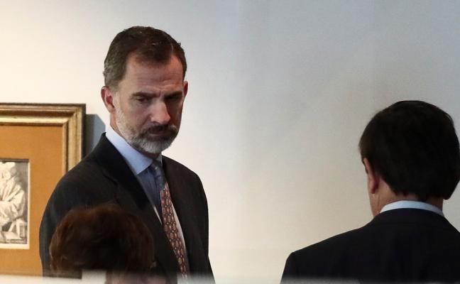El Rey vacía su agenda ante la crisis en Cataluña