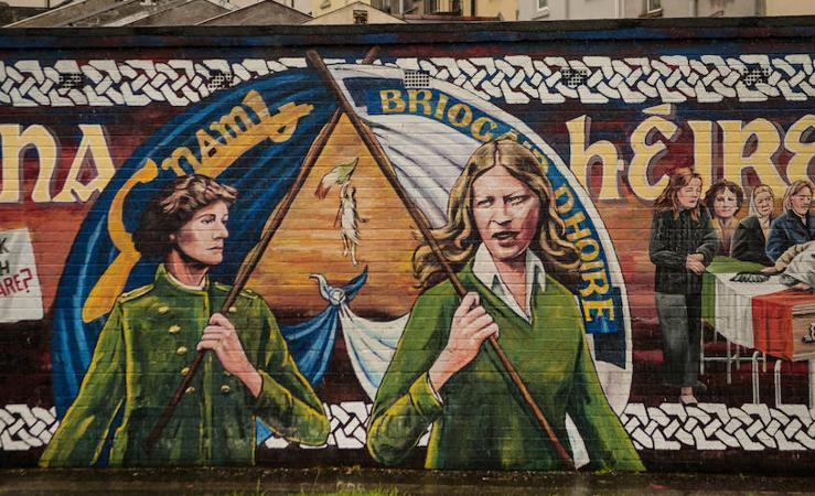 Pinturas de guerra en Belfast