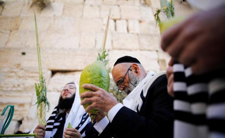 Los judíos celebran el Sucot en Jerusalén