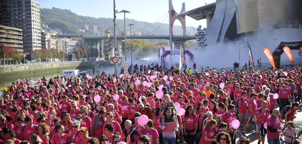 La carrera más multitudinaria contra el cáncer de mama en Bilbao
