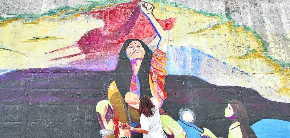 Una pared que pinta otra historia en Judimendi