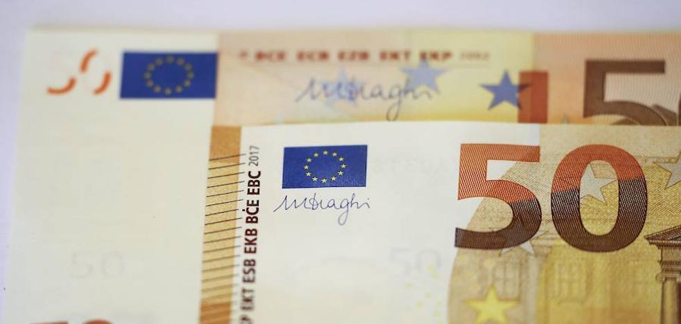 La Ertzaintza alerta de un incremento en la detección de billetes de 50 euros falsos