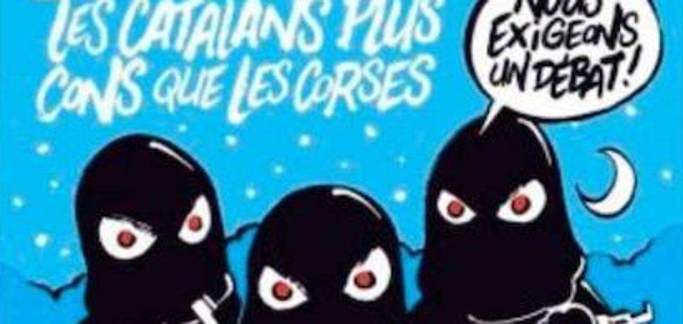 'Charlie Hebdo' se mofa de Cataluña: «Los catalanes son más tontos que los corsos»