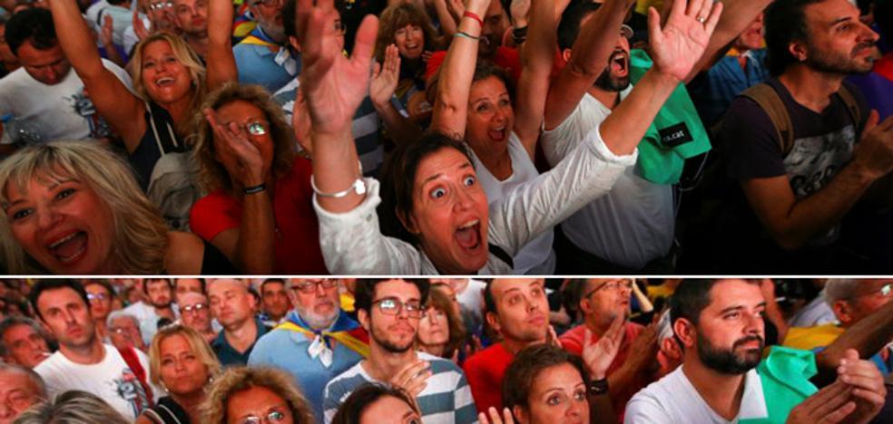 Silbidos a Puigdemont y aplausos a la CUP junto al Parlament