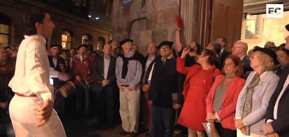 Los txikiteros rinden homenaje a la Amatxu de Begoña
