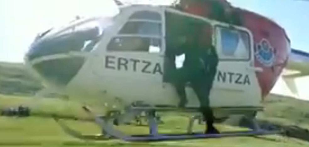 Rescatada una menor de 14 años herida en la cima del Anboto