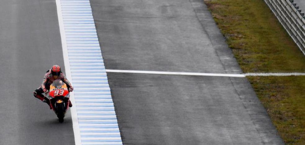 Márquez sacrifica la pole pensando en la carrera