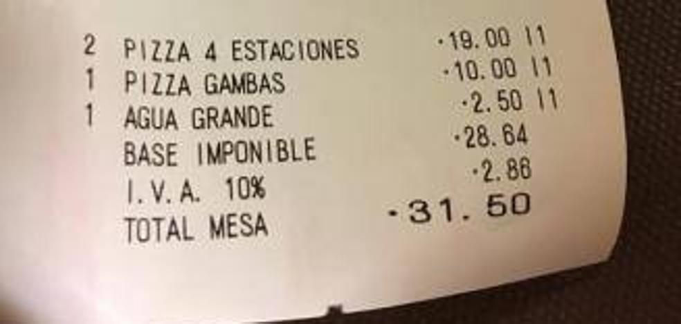 El descomunal 'sablazo' de una pizzería de Gijón por un vaso de agua del grifo