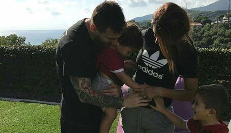 Leo Messi y su mujer serán padres por tercera vez