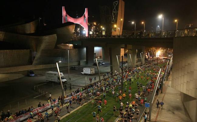 ¿Qué calles se ven afectadas esta noche por la Bilbao Night Marathon?