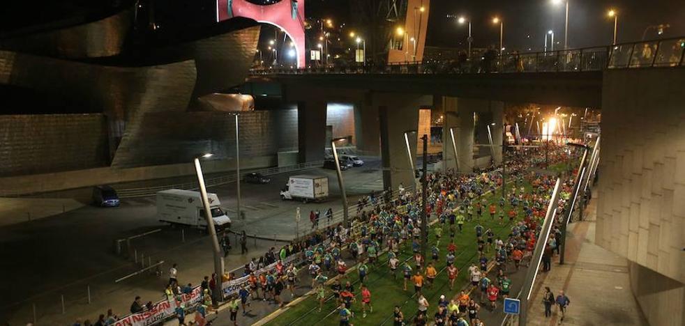 La Bilbao Night Marathon provocará cortes de tráfico en las principales calles de la ciudad