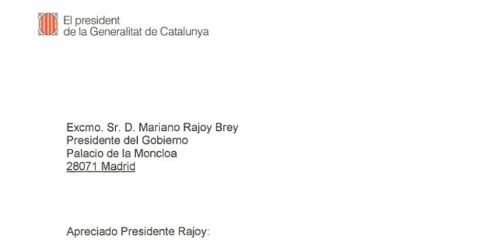 Documentos: el cruce de cartas entre Puigdemont y Rajoy