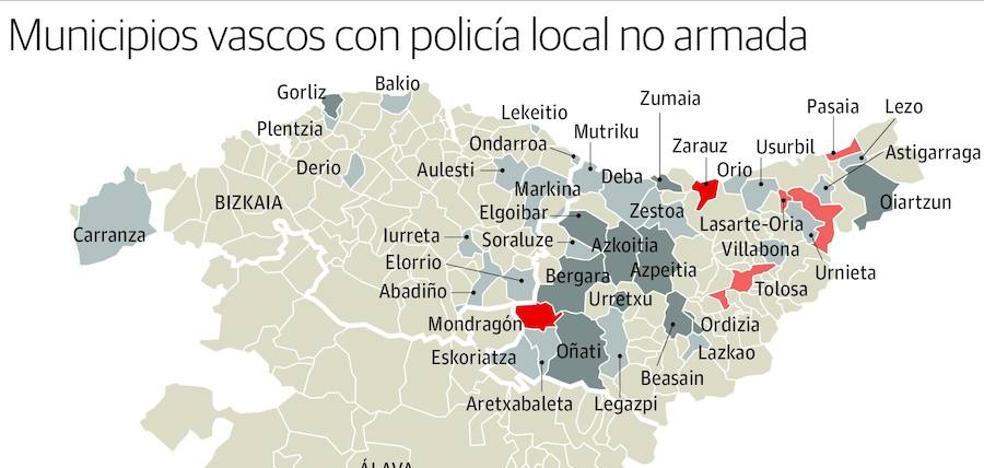 La mitad de las policías locales de Euskadi carece de arma reglamentaria