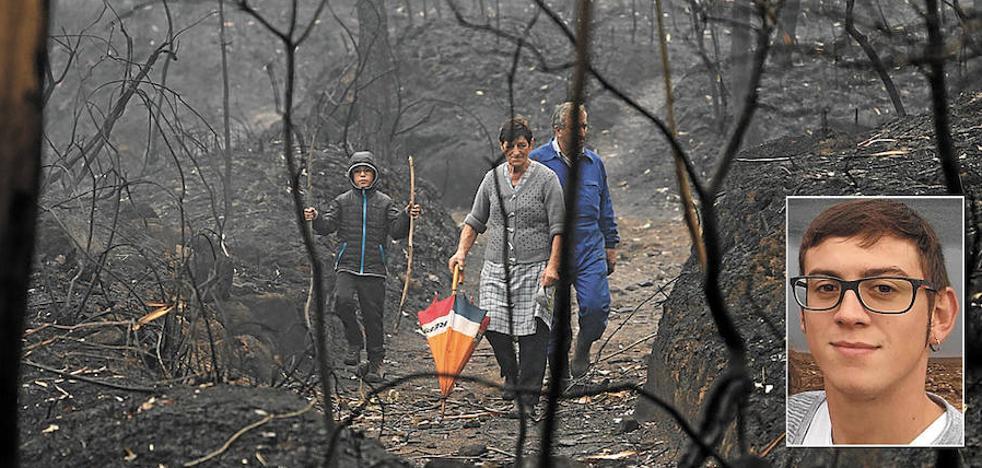 Un remero guipuzcoano escapa del fuego en Galicia: «Vimos a dos encapuchados huyendo en moto»