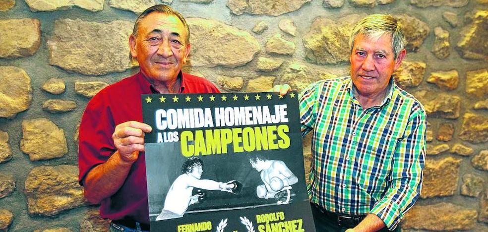 Un homenaje para dos campeones