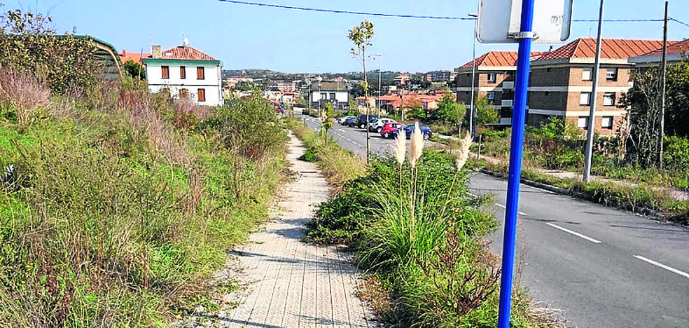 Vecinos denuncian el «abandono» de la zona de Loiola en Sopela